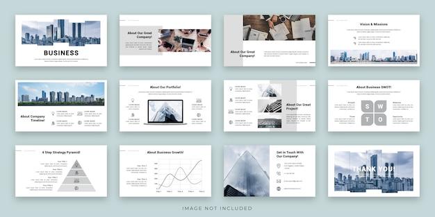 Projektowanie Układu Prezentacji Biznesowych Z Planszą Premium Wektorów