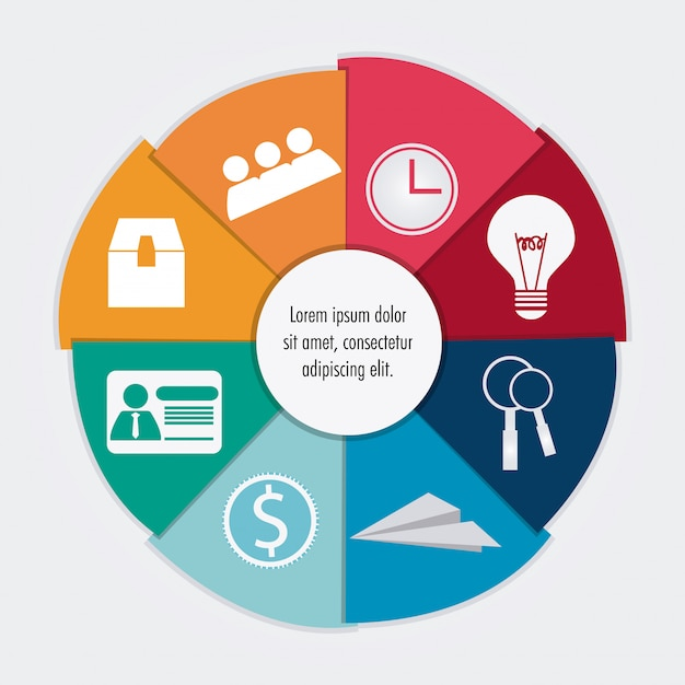 Projektuj ikony procesu Premium Wektorów