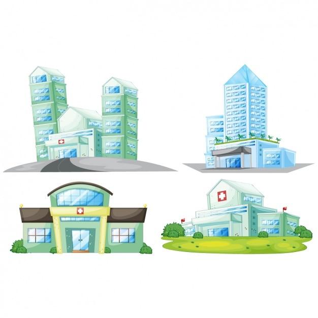 Projekty Szpitalne Kolekcji Premium Wektorów