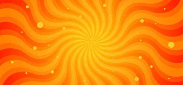 Promienie Sunburst Fale Streszczenie Tło Premium Wektorów