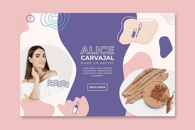 Promocja Banerów Kosmetycznych Premium Wektorów