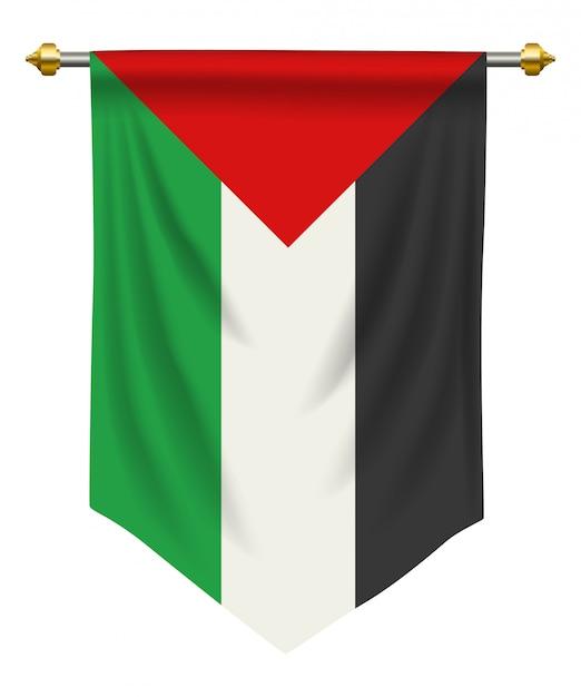 Proporczyk palestyny Premium Wektorów