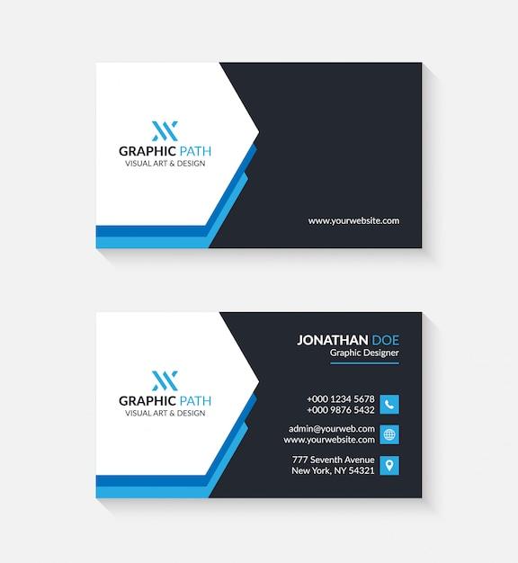 Prosta wizytówka z logo lub ikoną dla twojej firmy Premium Wektorów