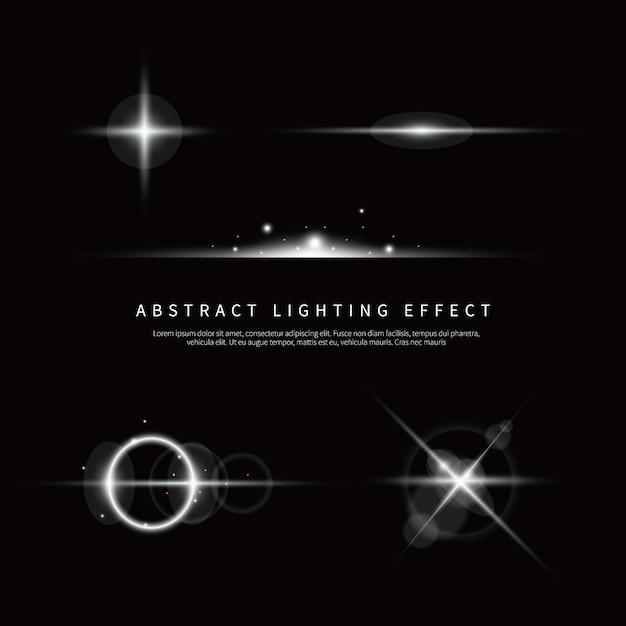 Proste tło efekt oświetlenia Premium Wektorów