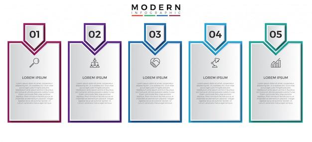 Prosty infographic projekta szablon Premium Wektorów