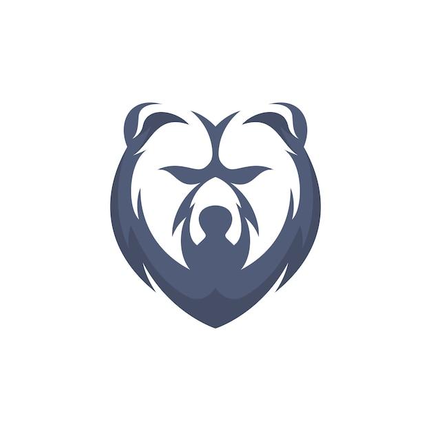 Prosty Niedźwiedź Głowy Premium Wektorów