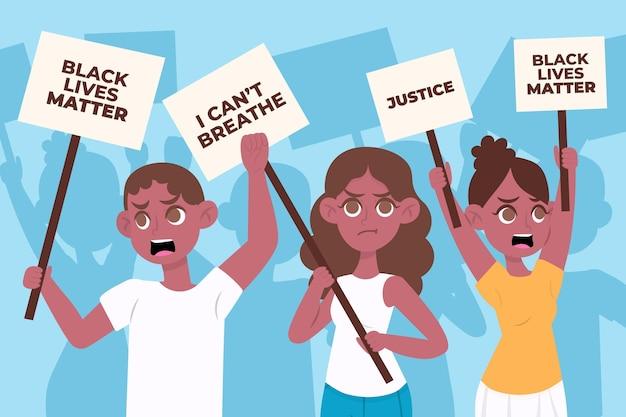 Protest Przeciwko Rasizmowi Darmowych Wektorów