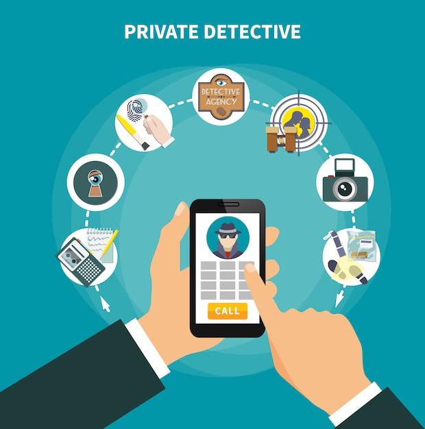 Prywatny detektyw Darmowych Wektorów