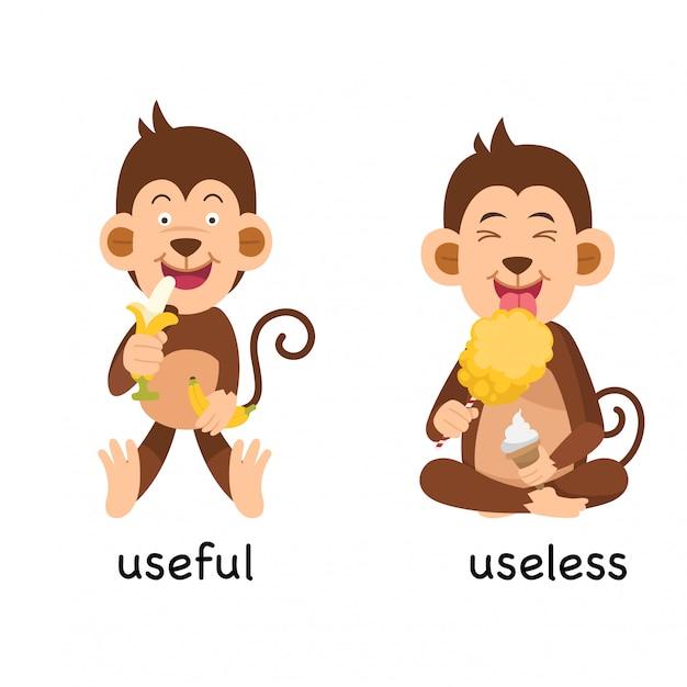 Przeciwko użyteczne i bezużyteczne ilustracji wektorowych Premium Wektorów