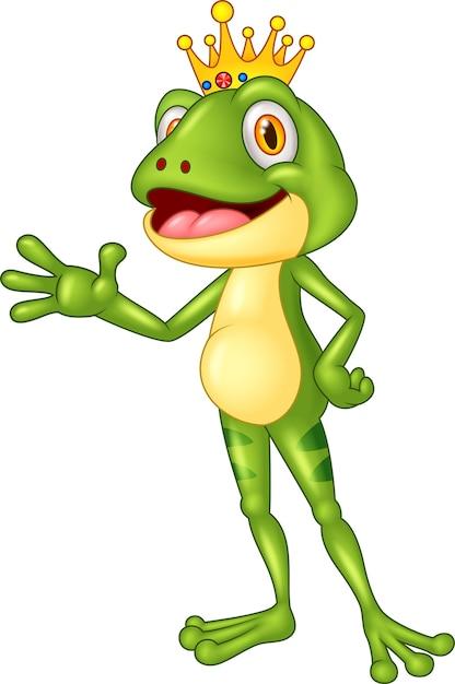 Przedstawienie Słodkiej żaby Premium Wektorów