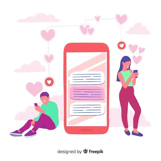Przedstawiono koncepcję aplikacji randkowej Darmowych Wektorów