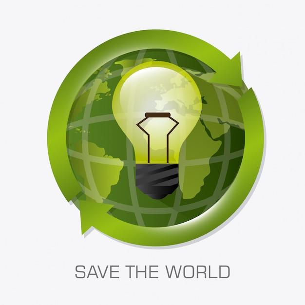 Przejdź zielony projekt ekologii. Darmowych Wektorów
