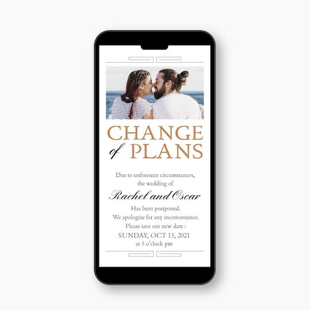 Przełożony ślub Ogłasza Pojęcie Mobilnego Formatu Darmowych Wektorów