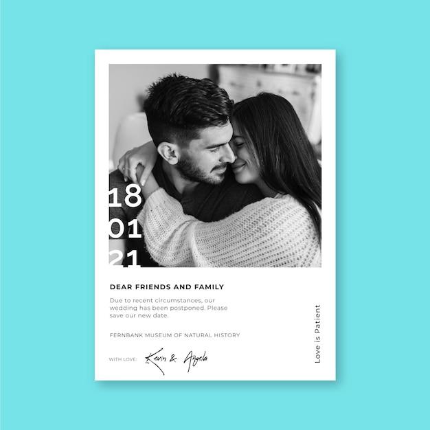 Przełożony Szablon Karty ślubu Darmowych Wektorów