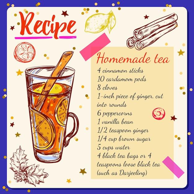 Przepis Na Przyprawy Do Herbaty Darmowych Wektorów
