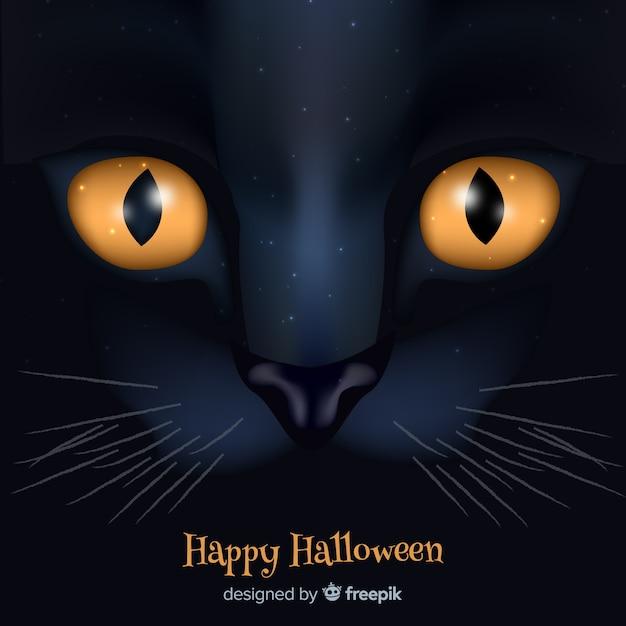 Przerażające tło halloween z realistycznym wystrojem Darmowych Wektorów
