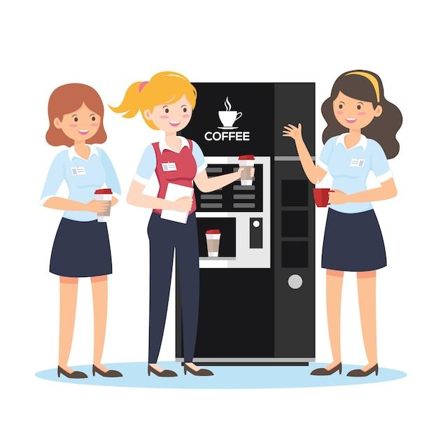 Przerwa na kawę dla przedsiębiorców Premium Wektorów