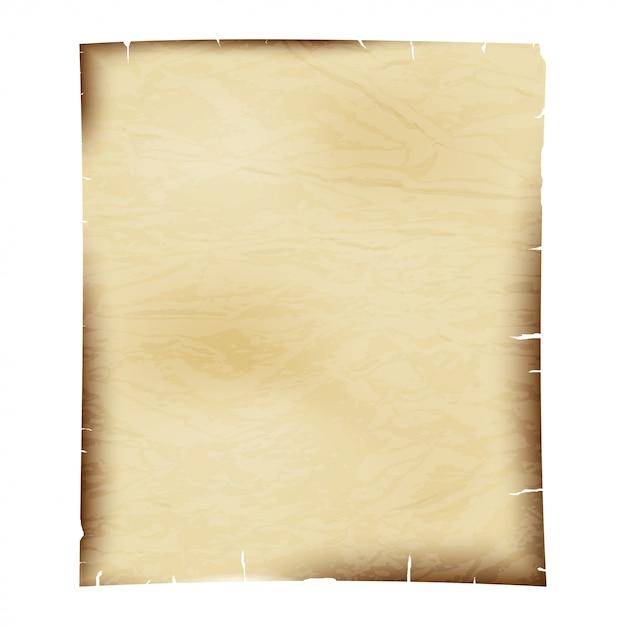 Prześcieradło stary papier na bielu Premium Wektorów