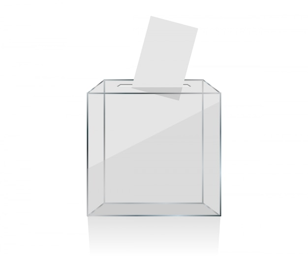 Przezroczysta urna wyborcza Premium Wektorów