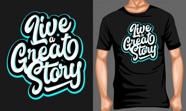 Przeżyj wspaniałą historię, typografię Premium Wektorów