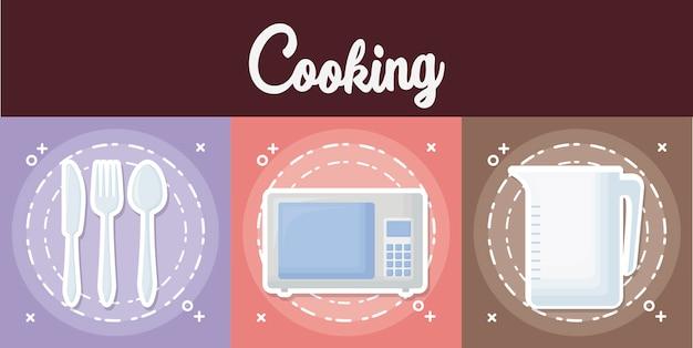 Przybory kuchenne Darmowych Wektorów