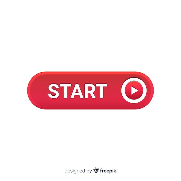 Przycisk start z symbolem odtwarzania Darmowych Wektorów
