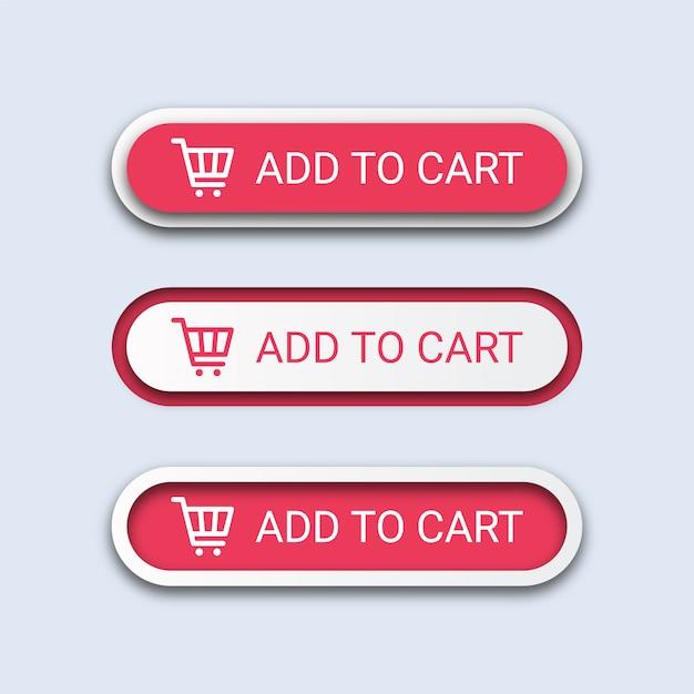 Przyciski Dodaj Do Koszyka Premium Wektorów