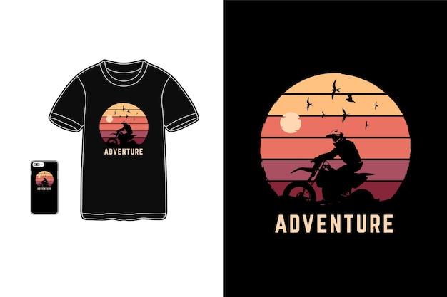 Przygoda, Typografia Koszulek Z Gadżetami Premium Wektorów