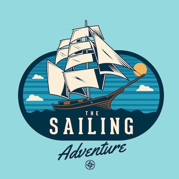 Przygoda żeglarska Premium Wektorów