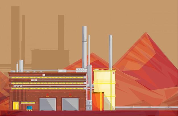 Przyjazny środowisku Zakład Przetwarzania Rudy Przemysłowej Darmowych Wektorów