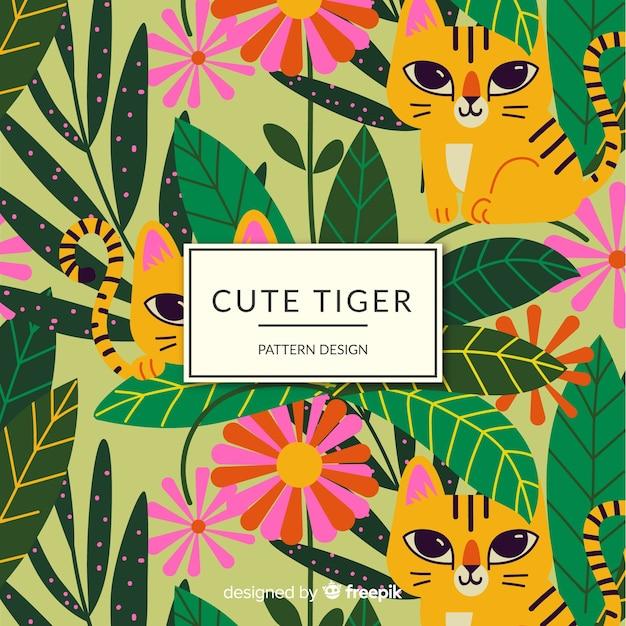 Przyjazny wzór tygrysa Darmowych Wektorów