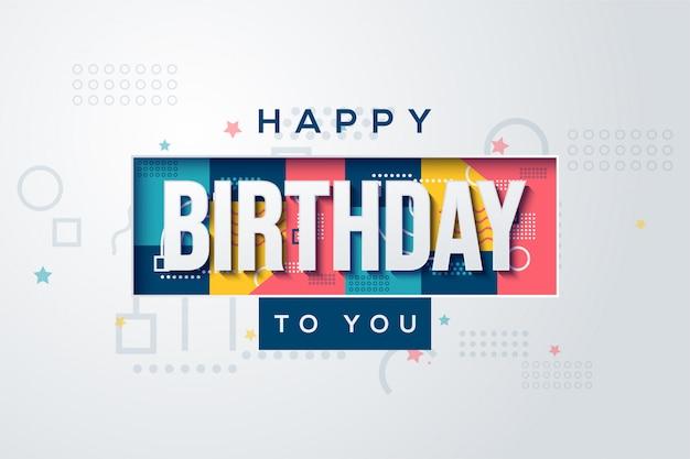Przyjęcia Urodzinowego Tło Z Białym Tekstem Na Kolorowym Tle. Premium Wektorów