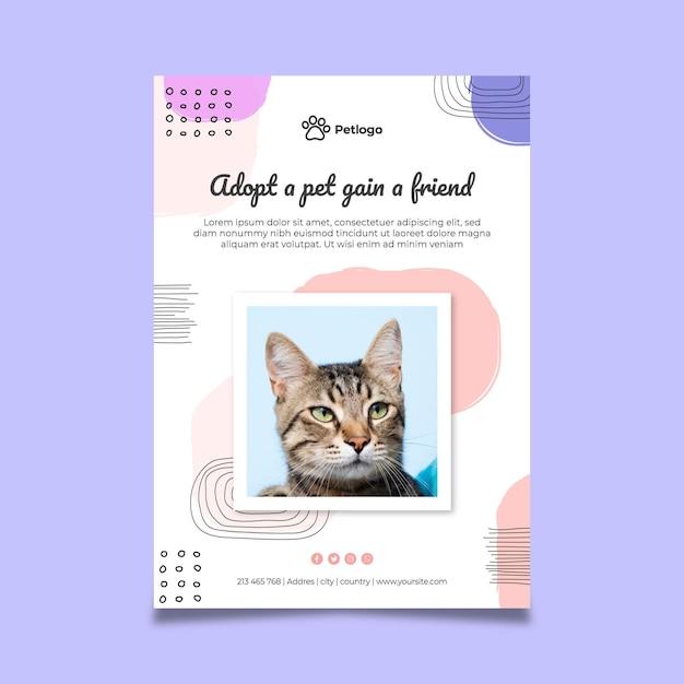 Przyjmij Plakat Zwierzaka Z Uroczymi Zwierzętami Darmowych Wektorów