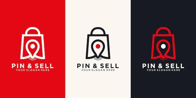 Przypnij I Sprzedaj Szablon Projektu Logo Ikona. Premium Wektorów
