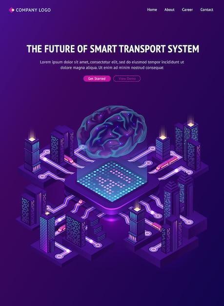Przyszłość Banera Inteligentnego Systemu Transportowego. Darmowych Wektorów