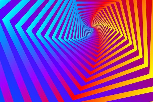 Psychodeliczny Złudzenie Optyczne Tło Darmowych Wektorów