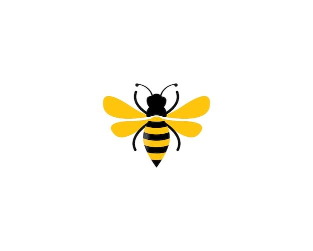Pszczoła Ikona Ilustracja Logo Premium Wektorów