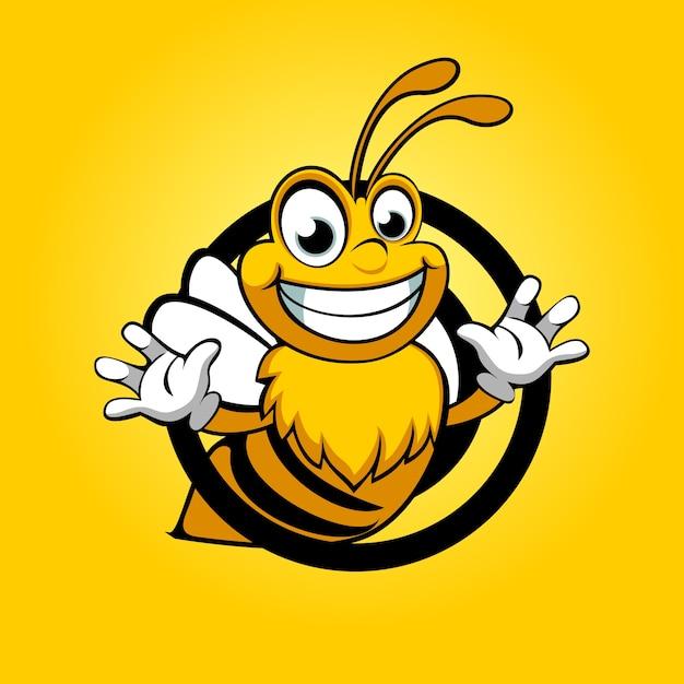 Pszczoła Zabawna Premium Wektorów