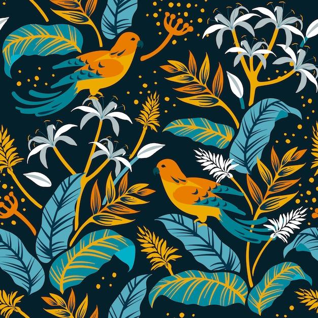 Ptaki w projektowaniu przyrody Darmowych Wektorów