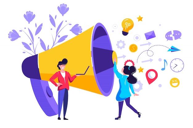 Public Relations I Sprawy, Komunikacja Premium Wektorów