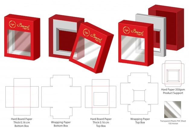 Pudełko do pakowania wycinane szablon projektu Premium Wektorów