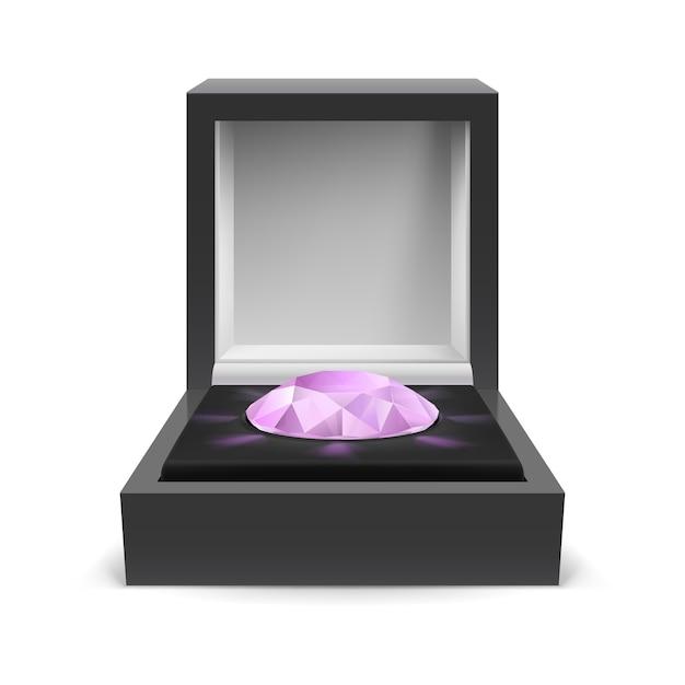 Pudełko Na Diament Premium Wektorów