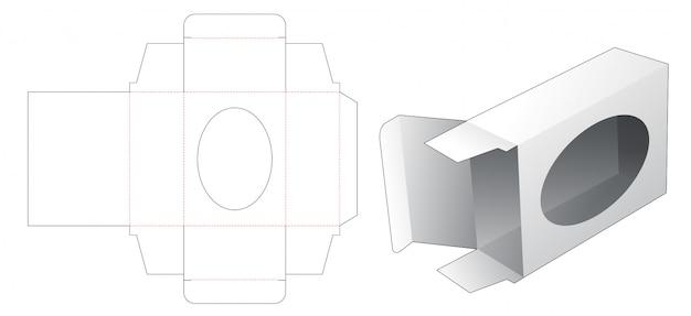 Pudełko Na Mydło Z Szablonem Wycinanym W Oknie Premium Wektorów