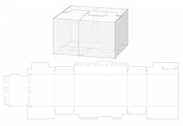 Pudełko Z Dzielonym Wykrojonym Szablonem Premium Wektorów