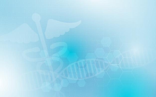 Puls medyczny symbol i streszczenie geometryczne z tłem koncepcji medycyny i nauki Premium Wektorów