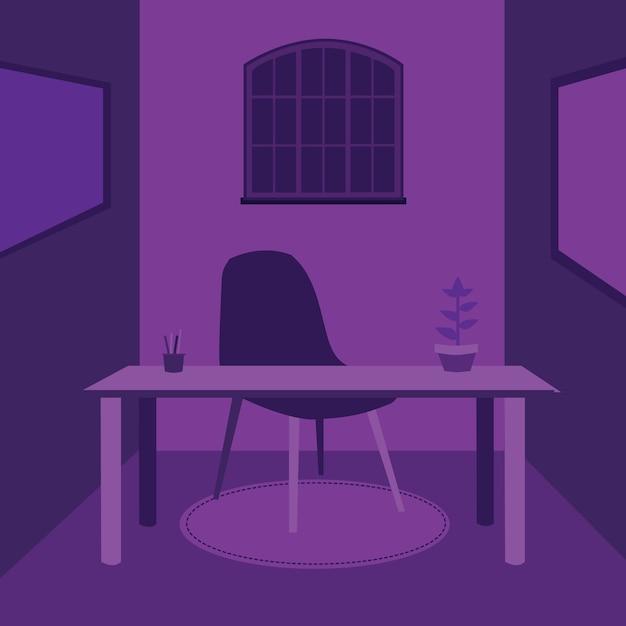 Purple Desk Premium Wektorów