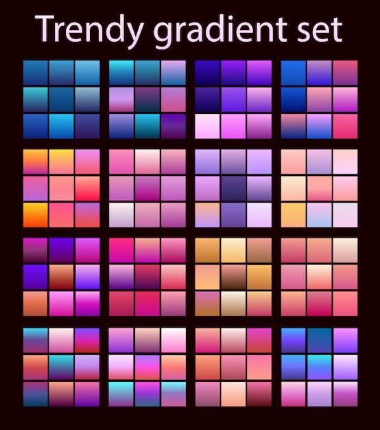 Purpurowy modny zestaw ultrafioletowy Premium Wektorów