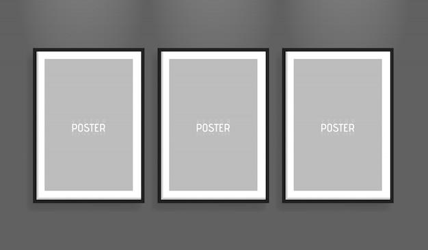 Pusta Biała Makieta Ramki Papieru Wektor Wektor A4. Pokaż Swoje Ulotki, Broszury, Nagłówki Itp. Dzięki Temu Bardzo Szczegółowemu Realistycznemu Elementowi Szablonu Premium Wektorów