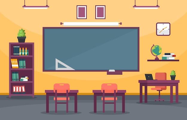 Pusta Klasa Edukacja Podstawowa Klasa Liceum Nikt Nie Ilustracja Premium Wektorów