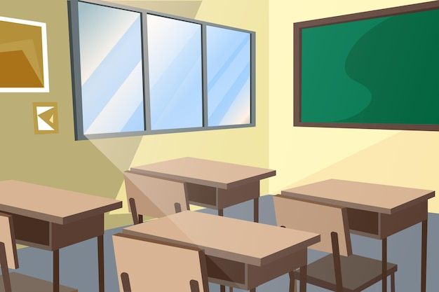 Pusta Klasa Szkolna - Tło Do Wideokonferencji Darmowych Wektorów